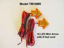 2 Amber 14-SMD LED Arrow Lights for Car Side Mirror Turn Signal Blinker Retrofit