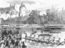 ETON. The boats leaving the Brocas for Surly Hall, antique print, 1870