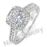 2.77 Ct. Cushion Cut Diamond Engagement Ring SI2-H