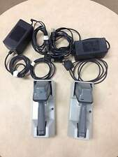 Pair of Symbol Wireless Barcode Scanners LS3070-I100US with charging base.