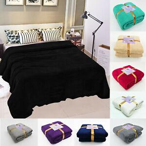Soft Teddy Blanket Teddy Fleece Cosy Large Faux Fur Warm Sofa Cuddly Bed Throw