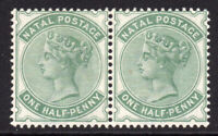 Natal 1/2d Pair of Stamps c1882-89 Mounted Mint Hinged (6740)