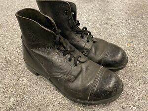 Vintage black leather army boots size 10.5 11