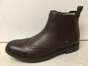 Men's Clarks Garnet Hi Chestnut Leather Boots UK 8 BRAND NEW IN BOX