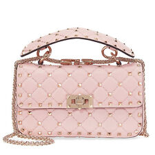 Valentino Rockstud Spike Small Chain Bag - Water Rose