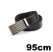 Accessoires noirs en cuir pour homme, 95 cm