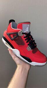 Nike Air Jordan 4 Retro Toro Bravo Size 10 IV Fire Red Cement 2013