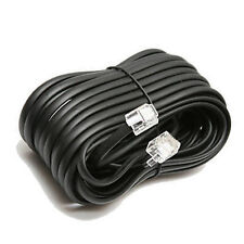 18' ft Telephone Extension Cord Phone Cable W Jacks RJ-11 4 Wire Line Black BU14