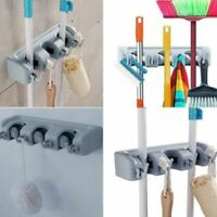 Kitchen Wall Mounted Mop Rack Brush Broom Holder Hanger Organizer Storage Tool