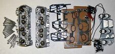 PAIR GM CHEVY LUMINA 3.1 3.4 170 487 CYLINDER HEADS BOLTS & GASKETS REBUILT