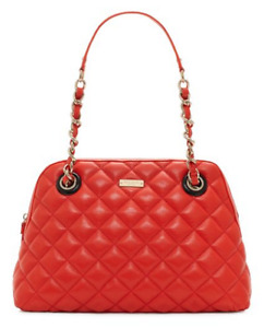 Kate Spade Georgina Quilted Poppy Red Leather Satchel
