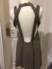 Topshop UNIQUE KHAKI ZIPPED MINI DRESS SIZE UK 6 EUR 34