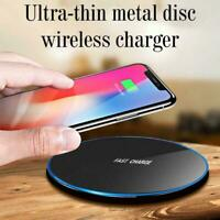 Metal 15W Qi Wireless Charger Fast Charging Dock Mat For iPhone Android Pad A1W4