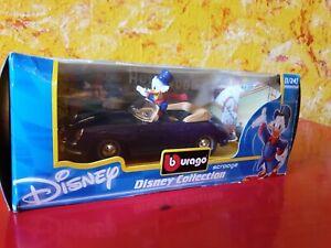 Bburago Burago Dagobert Duck Scrooge Figur ~ Porsche 356 Cabrio 1:24 Walt Disney