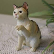 American Shorthaired Cat Figurine 4 inch Statue Resin Blue Cream