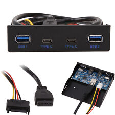 USB 3.1 Type C USB 3.0 A HUB to 20Pin Header Front Panel Floppy Disk Bay 2 Ports