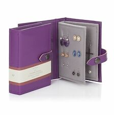 Small Size Purple - Little Book of Earrings a for Keeping Your Safe