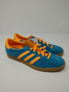 NEW Adidas Stadt Limited Edition Mens Casual Shoe Teal/Orange New EF9168 SZ 10.5