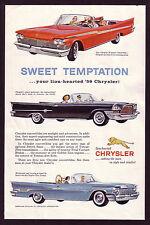 1959 Vintage Chrysler Windsor 300-E New Yorker Convertible Car Art Print Ad