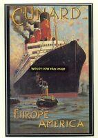 ad2025 - Cunard Line - Liner Aquitania - modern advert postcard