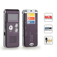 Rechargeable 8GB Digital Audio/Sound/Voice Recorder Dictaphone MP3 Player OFUK