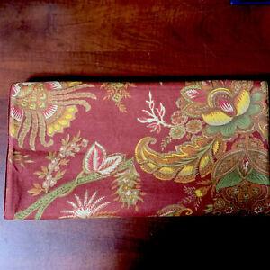 Pottery Barn Jacobean Floral Rust Green Yellow Mult Oversized LongTable Runner