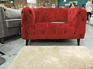 Designer cranberry large snuggler & footstool RRP £959