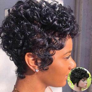 Short Wigs For Black Women Remy Curly Human Hair Wig Brazilian Machine Made Wigs
