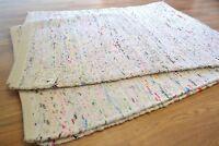 Indian White Cotton Chindi Rag Rug Handmade Recycled 180x240cm 6x8ft