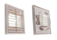 *Pkge Of 3  Louvre Air Vent Ventilation Grille Exterior Or Interior Use 100Mm