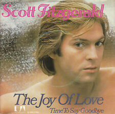 "7"" 45 TOURS HOLLANDE SCOTT FITZGERALD ""The Joy Of Love +1"" 1978 REGGAE"