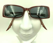 Vintage Anna Sui AS 57701 Brown Rectangle Sunglasses Italy FRAMES ONLY