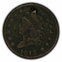 1812 1c Classic Head Large Cent - Mid-Grade Detail - SKU-Y2285