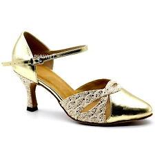 TPS Gold Latin Ballroom Salsa Custom-made Dance Shoes D1099