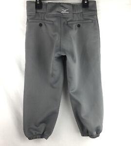 Mizuno Performance Girls Softball Pants Baseball Gray Size Youth Large H473