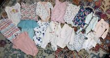 Baby Girls 25 Piece Lot - Nb 0-3 3-6 6 One Pieces, Outfits- Spring Summer- Mix