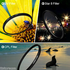 Andoer 58mm Filter Set UV+CPL+ Star 8-Point Filter Kit for DSLR Camera Lens P1K4