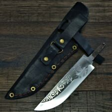 Knife blade with leather sheath. Knife making supplies. #12 Ship