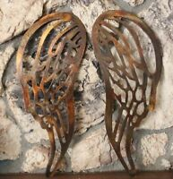 """Angel Wings Copper/Bronze Plated Metal Wall Decor  large 30"""" tall"""
