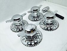 CHROME UNIVERSAL ADAPTERS 2 BAR KNOCK OFFS SMOOTH WIRE WHEELS DAYTON TYPEC