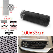 Aluminum Car Bumper Fender Hexagonal Grille Net Mesh Grill Section 100x33cm