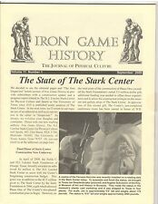 Iron Game History Bodybuilding Muscle Magazine The Stark Center 9-09 vol 11 #1