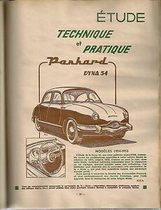 REVUE TECHNIQUE AUTOMOBILE 106 RTA 1955 PANHARD DYNA Z (1) AMELIORAT CITROEN 2CV