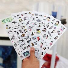 6 Sheets Cute Cat Album Diary Calendar Sticker Label Scrapbooking Craft Gift