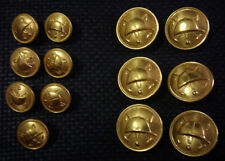 OLD ORIGINAL VICTORIAN EQUESTRIAN HAT SPORTING METAL BUTTONS LOT OF 13 RARE