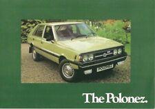 Polski-Fiat FSO Polonez 1978-79 UK Market Preview Foldout Sales Brochure