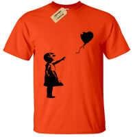 Kids Boys Girls Banksy Girl With Balloon T-Shirt Funny Urban Graffiti Art