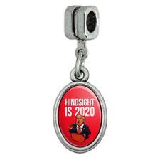 Donald Trump Hindsight is 2020 Italian European Style Bracelet Oval Charm Bead