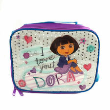 Dora The Explorer Purple Lunch Box Lunch Bag and Adjustable Strap Insulated