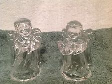 Glass Angels Boy/Girl Tapered Candle Holders Set of 2 Beautiful  MINT Condition!